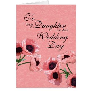 De Dag van het Huwelijk van de dochter Wenskaart