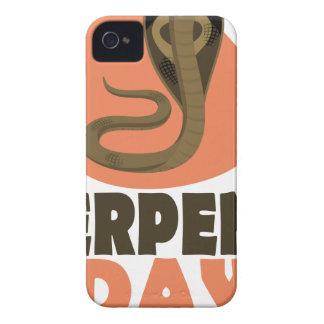 De Dag van het serpent - de Dag van de Appreciatie iPhone 4 Hoesje