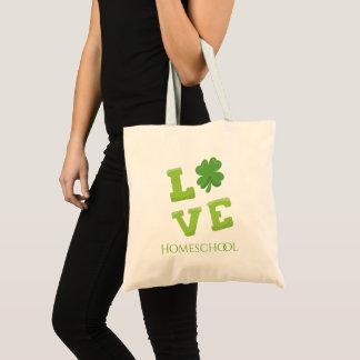 De Dag van Homeschool St Patricks van de liefde Draagtas