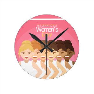 de Dag van internationale Vrouwen Ronde Klok