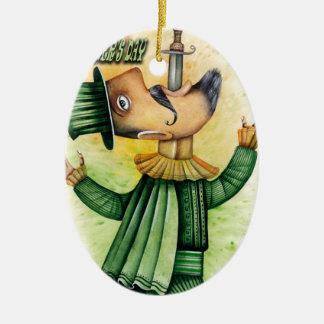 De Dag van Swallower van het Zwaard van de wereld Keramisch Ovaal Ornament