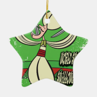 De Dag van Swallower van het Zwaard van de wereld Keramisch Ster Ornament
