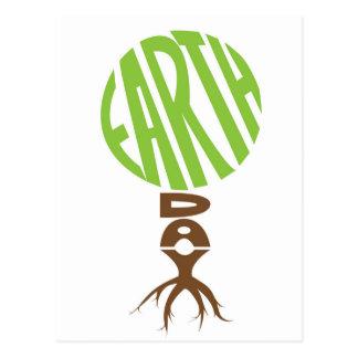 De dagBriefkaart van de aarde, boomvorm Briefkaart