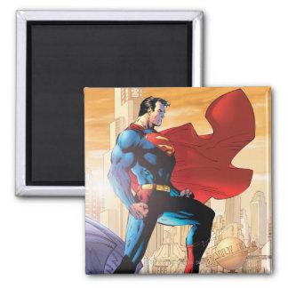 De Dagelijkse Planeet van de superman Vierkante Magneet