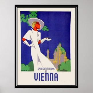 De dagen van de zomer in de Druk van Wenen Poster