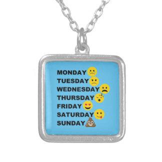 De Dagen van Emoji Zilver Vergulden Ketting