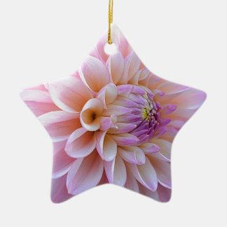 De Dahlia van Hued van de pastelkleur Keramisch Ster Ornament