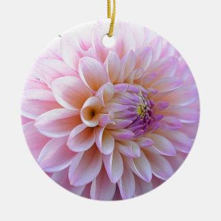 De Dahlia van Hued van de pastelkleur Rond Keramisch Ornament