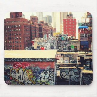 De Daken van de Stad van New York in Graffiti word Muismatten