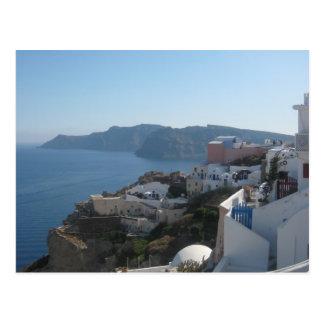De Daken van Santorini Briefkaart