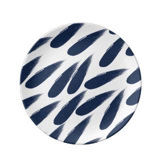 De Dalingen van de regen vatten het Decoratieve Porseleinen Bordje