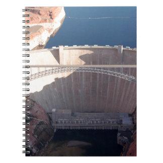 De Dam van de Canion van de nauwe vallei en Brug, Ringband Notitieboek
