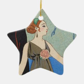 De Dame die van het art deco - zich voorbij het Keramisch Ster Ornament