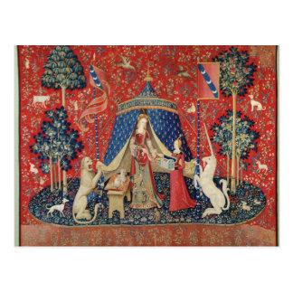 """De dame en de Eenhoorn: """"Aan mijn enig desire Briefkaart"""