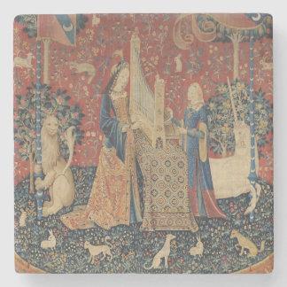 De dame en de Eenhoorn: 'Hearing Stenen Onderzetter