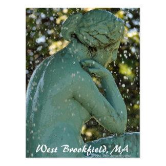 De dame in het Briefkaart van Brookfield van het
