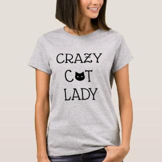 """De """"dame"""" T-shirt gekke van de Kat"""