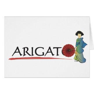 De Dame van Arigato Wenskaart