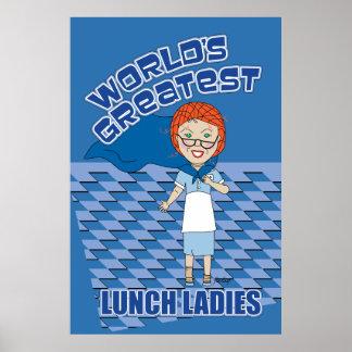 De Dame van de lunch - Grootste Wereld Poster