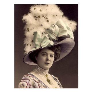 De Dame van Edwardian Briefkaart
