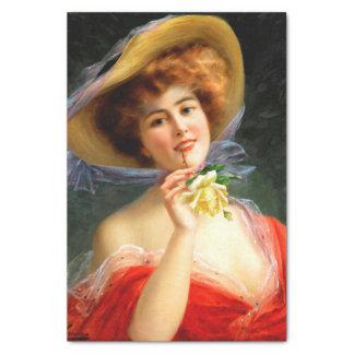 De Dame van Falln in Rood Tissuepapier