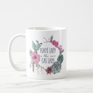 De dame van het plant is de nieuwe kattendame koffiemok