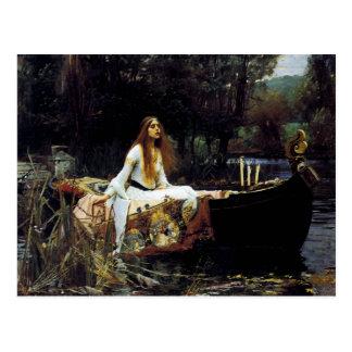 De dame van Sjalot Briefkaart