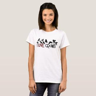 De dames kraaien T-shirt
