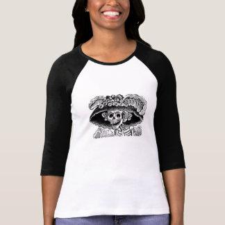 De Dames van Catrina van Calavera 3/4 sleeveRaglan T Shirt