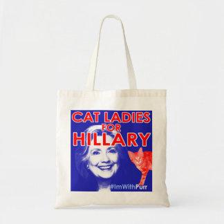 De Dames van de kat voor Hillary Tote Draagtas