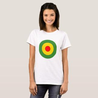 De dames wit t-shirt van Reggae roundel Jamaïca