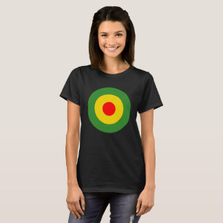 De dames zwart t-shirt van Reggae roundel Jamaïca