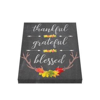 De dankbare Heilige Dankbare Thanksgiving van de Canvas Print