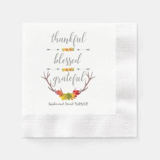 De dankbare Heilige Dankbare Thanksgiving van de Papieren Servet