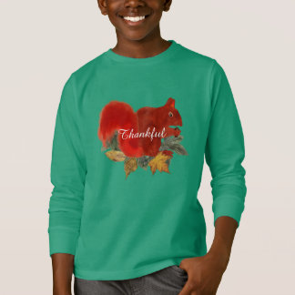 De dankbare Rustieke Leuke Rode Eekhoorn van de T Shirt