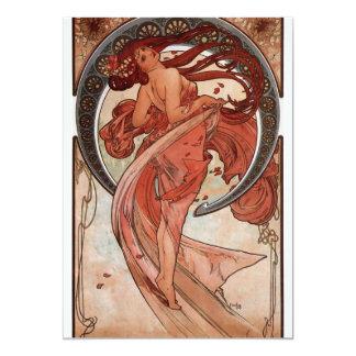 De Dans van Alfons Mucha 12,7x17,8 Uitnodiging Kaart