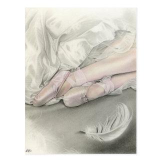 De dans van de ballerina van het zwaanBriefkaart Briefkaart