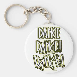 De DANS van de Dans van de dans! keychain in geel Sleutelhanger
