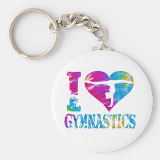 De Dans van de gymnastiek juicht Keychain toe Sleutelhanger