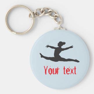 De Dans van de Gymnastiek van de douane juicht Sleutelhanger