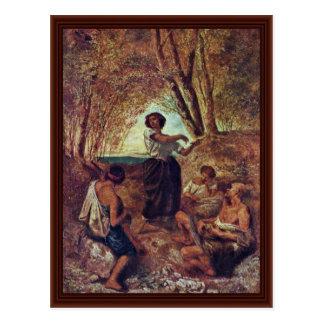 De Dans van de zigeuner door Feuerbach Anselm Briefkaart