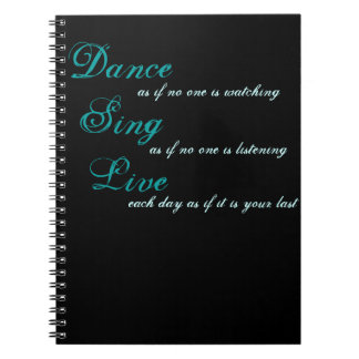 De dans zingt levende… ringband notitieboek