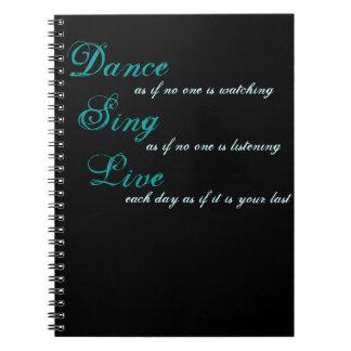 De dans zingt levende… ringband notitieboeken