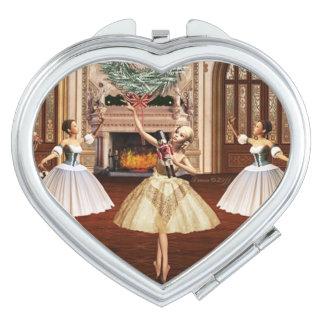 De dansende Compacte Spiegel van de Notekraker van Make-up Spiegel