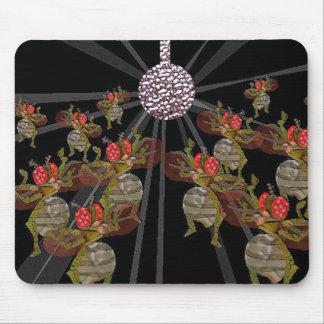 De dansende fruitvliegen van de disco muismatten