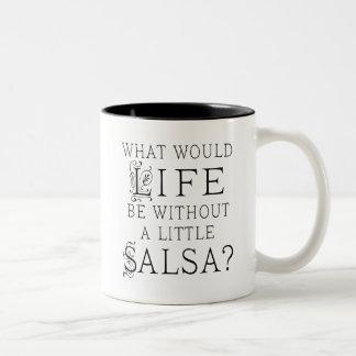 De Dansende Gift van Salsa Tweekleurige Koffiemok