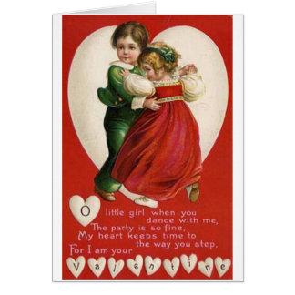 De Dansende Kaart van het Paar van Valentijn