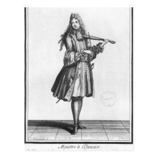 De dansende meester briefkaart