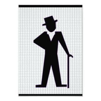 De dansende Partij van de Vrijgezel van het Man 8,9x12,7 Uitnodiging Kaart