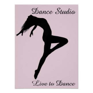 De danser trekt Gepersonaliseerd Silhouet terug Poster